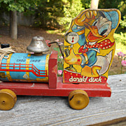 Fisher Price Donald Duck Choo Choo Pull Toy