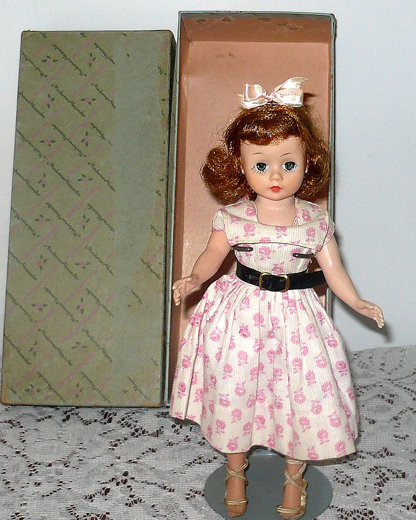 10&quot; 1950's Cissette Auburn Pink Make Up Day Dress  Box