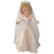 Blue Eyes Blond Hard Plastic Mary Hoyer Bride Tagged Gown & Box