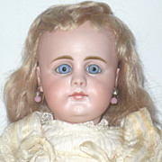 15.5&quot; 19th Century Simon Halbig 949 Closed Mouth Blue PW Eyes