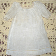 "Antique Ivory Linen Gauze Factory Shift for 16-18"" Doll"