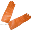 19th C  Persimmon Glazed Kid Centemeri French Fashion Gloves