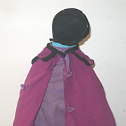 "Old 13"" Black Amish Doll Missouri  Provenance"