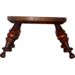 antiques folk art stool inlaid 18th century