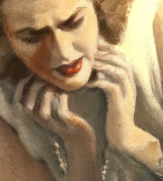 American Art - A Tragic Discovery - Andrew LOOMIS - Illustration Oil Painting