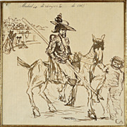 American Art � Robert Henri: The Bull Ring � 1908 Pen and Ink Drawing