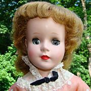 C1955 Sweet Sue Doll in Springtime Party Dress Walker Vinyl Arms 18 Inches MIB