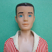 1962 Barbie Ken Doll Painted Hair Brunette in Original Box Extras Minty
