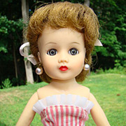 1957 Miss Nancy Ann Vinyl Fashion Doll Blonde 318 Occasional Style in Box