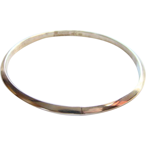 Erling Christoffersen Sterling Silver Modernist Bangle Bracelet Norway Plus Original Bag #X