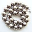 Vintage Southwestern or Mexico Silver Plate Bead Necklace 19.5 Inch Unsigned