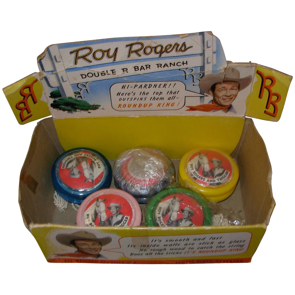 Vintage Roy Rogers Yo Yo Store Display Box