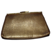 Vintage Goldtone Mesh Clutch Handbag