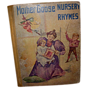 "Antique Book ""Mother Goose Nursery Rhymes"" Illustrated"
