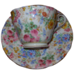 Vintage Aynsley English Chintz Floral Cup and Saucer