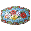 Vintage Italian Mosaic Floral Pin / Brooch