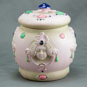 SALE Shafer Vater Art Nouveau Porcelain Covered Jar