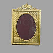 SALE Victorian Bronze Picture Frame Made in France