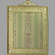 SALE Brass Picture Frame with Fabric Insert