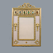 SALE French  Bronze Egyptian revival Jeweled Picture Frame