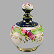 SALE Nippon Cobalt & Roses Perfume Bottle/Cologne