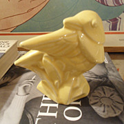 Vintage 1940'S Nelson McCoy Backwards Bird Planter Vase YELLOW
