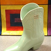 SOLD California Potteries Metlox Cowboy Boot Bud Vase No. 105