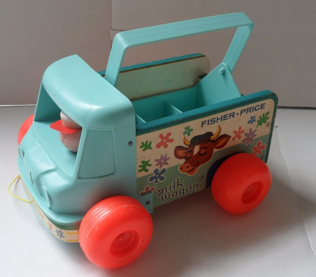 Vintage #131 Fisher Price Milk Wagon 1964-72