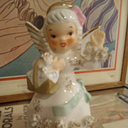 Napco August Spaghetti Birthday Angel Figurine
