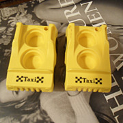 Vintage Fisher Price Yellow Taxi Cab Cars