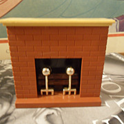 Vintage Fisher Price Doll House Fireplace #270
