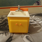 Vintage Fisher Price Doll House Sink Appliance