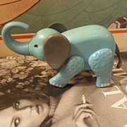 Vintage Fisher Price Blue Elephant Circus
