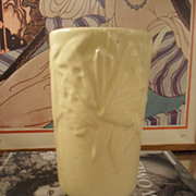 Vintage 1940's McCoy YELLOW Butterfly Vase 8&quot;