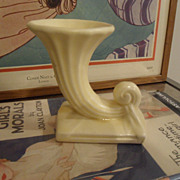 NM USA Nelson McCoy Pottery YELLOW matte Cornucopia  Ladder Piece