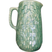Brush McCoy Morning Glory Basketweave Stoneware Pitcher