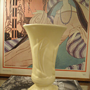 Vintage 1942 McCoy Yellow SAILBOAT Vase 8""