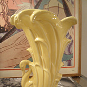 SOLD Vintage McCoy Graceful Swan Vase 9""