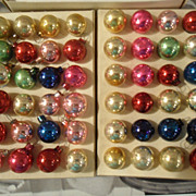 SALE PENDING Vintage Miniature Christmas Tree Balls /Ornaments Assorted  Glass decorations