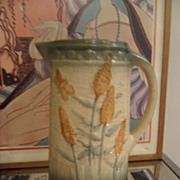 SOLD Antique Pottery Roseville Goldenrod Pitcher Butterfly 1900-1915