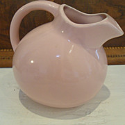 Vintage McCoy USA Ballet Pink Ball handle Pitcher