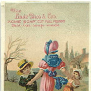 Acme Soap Trade Card Children Dancing Lautz Bros.