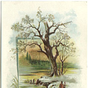 Royal Yeast Advertising Trade Picture Card Wintry Scene with Couple