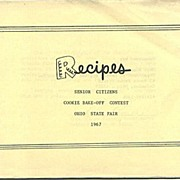 Ohio State Fair Senior Citizens Bake-Off Recipes 1967