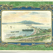 Fahan Pier Lough Swilly Ireland Souvenir Postcard Cloth