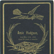 Amie Hodgson Memorial Card Died 1892