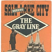 1946 Salt Lake City Gray Line Tours Brochure Map