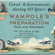 Wampole�s Preparation Advertising Ink Blotter