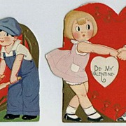 Vintage Valentine Cards with Children