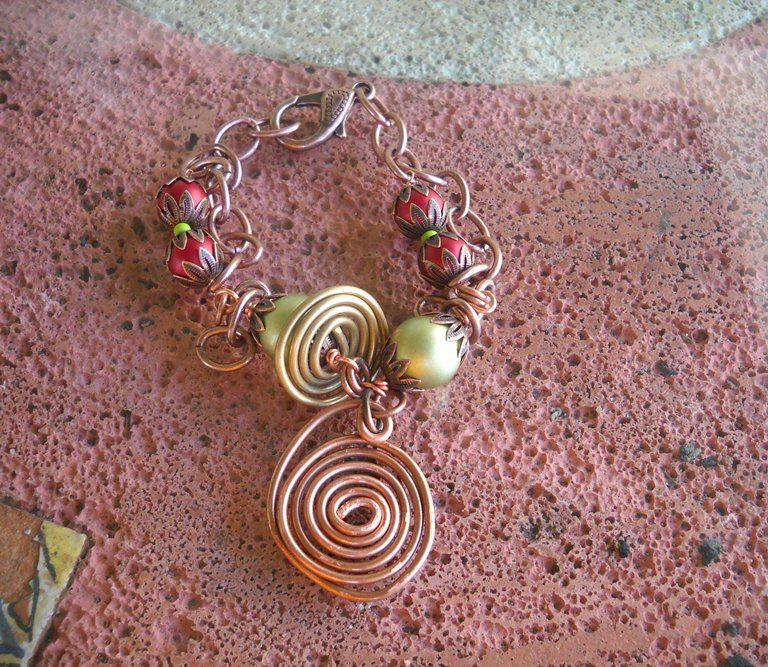 Copper & Bronze Swirl Bracelet